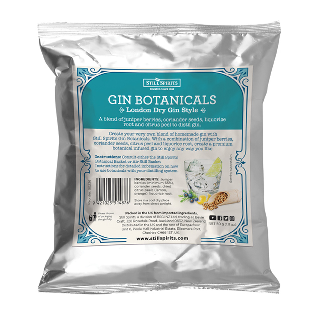 Still Spirits London Dry Gin Botanicals